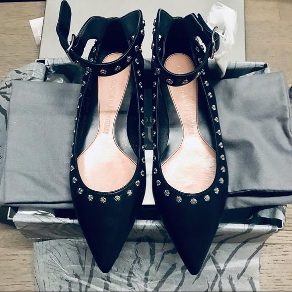 Alexander McQueen Shoes - Alexander McQueen black Goya Calf leather flats